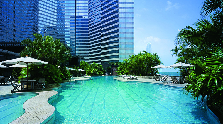 Property GrandHyattHongKong Hotel PublicSpaces OutdoorHeatedSwimmingPool HyattCorporation