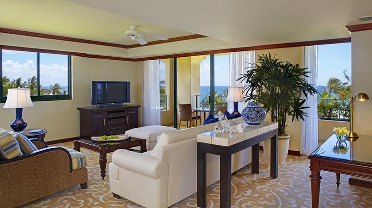 Property GrandHyattKauaiResortAndSpa 6 Hotel GuestroomSuite DeluxeSuite LivingRoom CreditHyattCorporation