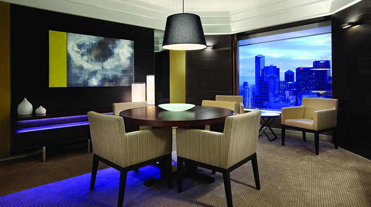 Property GrandHyattMelbourne Hotel GuestroomSuite AmbassadorSuiteDiningArea HyattCorporation