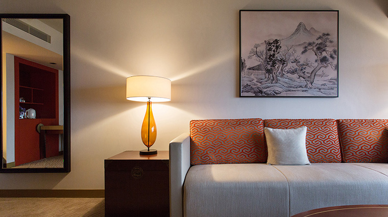 Property GrandHyattTaipei Hotel GuestroomSuite SuiteSeatingArea HyattCorporation