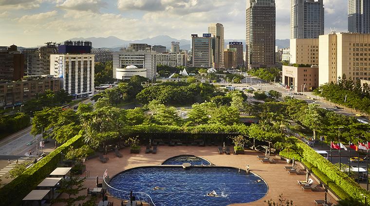 Property GrandHyattTaipei Hotel PublicSpaces AerialViewSwimmingPool HyattCorporation