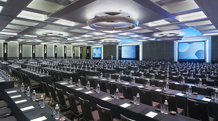 Property GrandHyattTaipei Hotel PublicSpaces GrandBallroomClassroomSetup HyattCorporation
