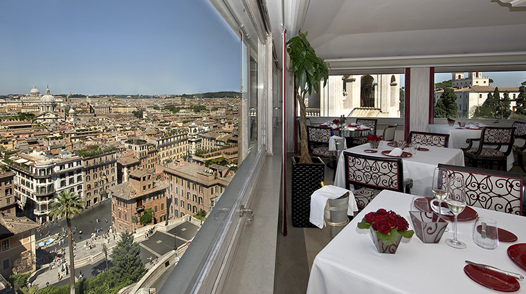 Property HasslerRoma Hotel Dining ImagoRestaurantView TheLeadingHotelsoftheWorldLtd