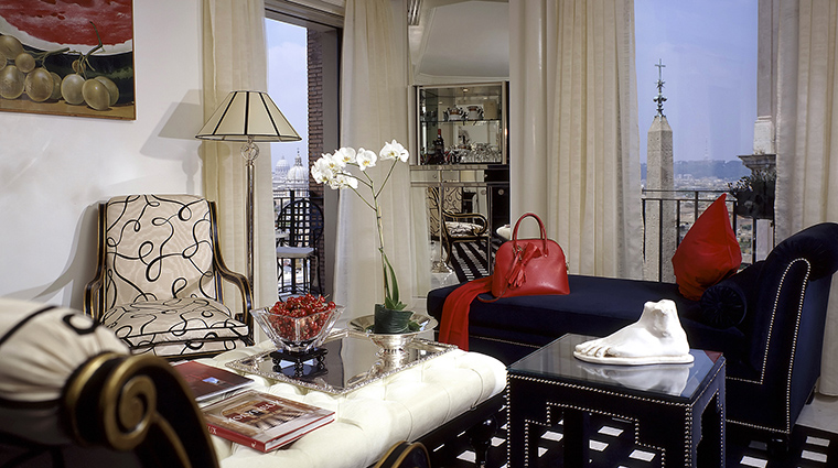 Property HasslerRoma Hotel GuestroomSuite PresidentialSuiteTrinitadeiMontiLivingroom TheLeadingHotelsoftheWorldLtd