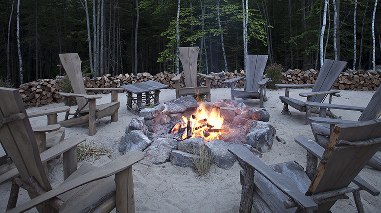 Property HiddenPond Hotel PublicSpaces Bonfire HiddenPond