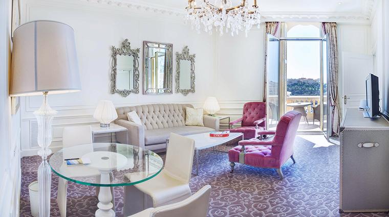 Property HotelHermitageMonteCarlo Hotel GuestroomSuite OneBedroomSuiteLivingRoom SBMGroup
