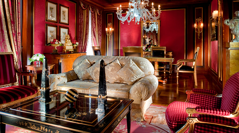 Property HotelPrincipediSavoia Hotel GuestroomSuite RoyalSuiteLivingRoom DorchesterCollection