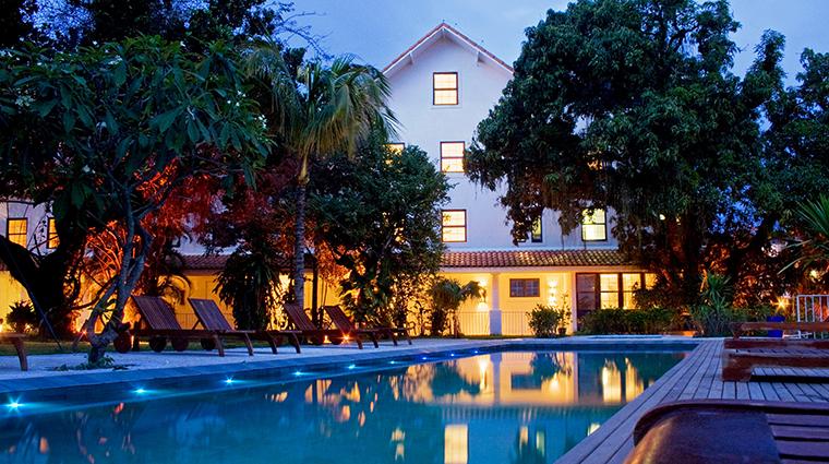 Property HotelSantaTeresa PublicSpaces SwimmingPoolEvening Luxury5StarHotelSantaTeresa