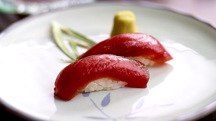 Property Inagiku Restaurant Dining MarinatedTunaSushi TheRoyalGarden
