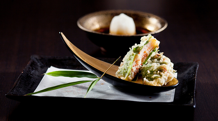 Property Inagiku Restaurant Dining ShisoLeafCrabMeatandShrimpPasteTempura TheRoyalGarden