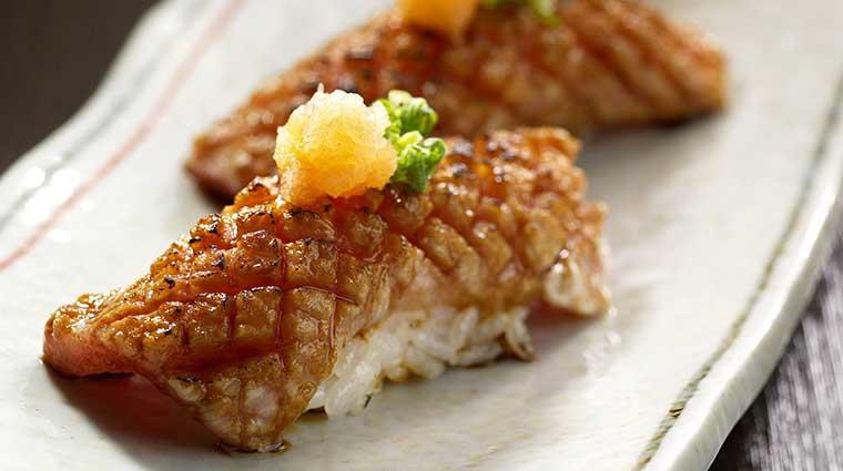 Property InagikuGrandeJapaneseRestaurant Restaurant GrilledFattyTunaSushi FourSeasonsHotelsLimited