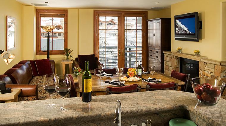 Property InnatLostCreek Hotel GuestroomSuite TwoBedroomCondoLivingRoom InnatLostCreekTelluride