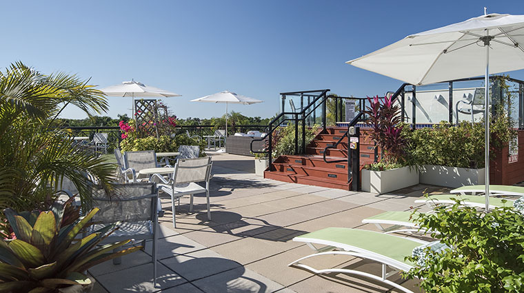 Property InnonFifthandClubLevelSuites Hotel PublicSpaces ClubLevelRooftopDeck InnonFifth