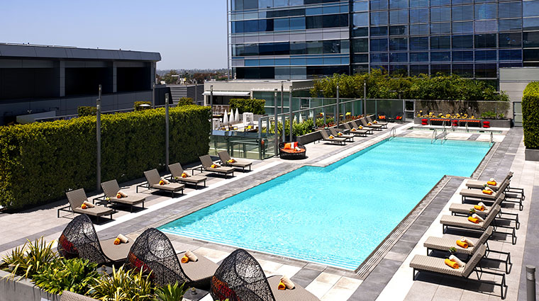 Property JWMarriottLosAngeles Hotel PublicSpaces RooftopPoolDay MarriottInternationalInc