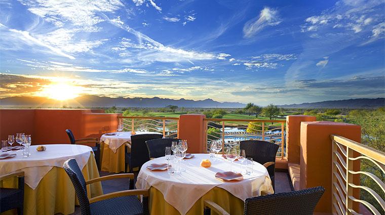 Property KaiRestaurant Restaurant Dining KaiPatioSunsetExterior WildHorsePass