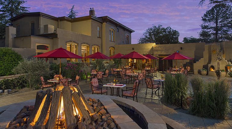 Property LaPosadadeSantaFe Hotel Dining ThePatioRestaurant StarwoodHotels&ResortsWorldwideInc