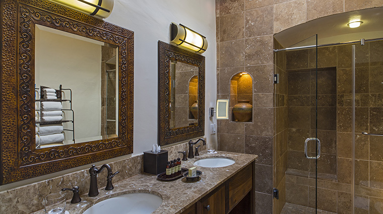 Property LaPosadadeSantaFe Hotel GuestroomSuite BacaSuiteBathroom StarwoodHotels&ResortsWorldwideInc