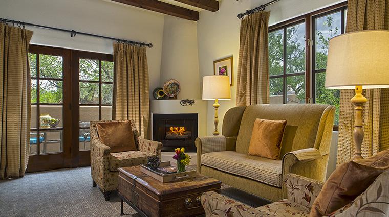 Property LaPosadadeSantaFe Hotel GuestroomSuite SpaSuiteLivingRoom StarwoodHotels&ResortsWorldwideInc