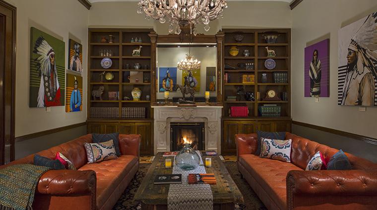 Property LaPosadadeSantaFe Hotel PublicSpaces Library StarwoodHotels&ResortsWorldwideInc