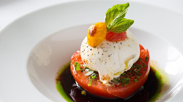 Property LaTableChateau Restaurant Dining HeirloomCherryTomatoesBasil&SunDriedTomatoPesto LaTable