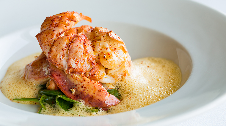 Property LaTableChateau Restaurant Dining PoachedLobsterVindArbois&WasabiSpinach LaTable