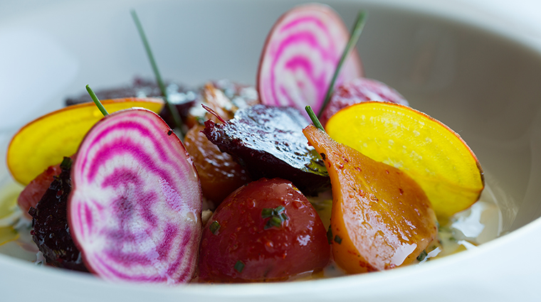 Property LaTableChateau Restaurant Dining RoastedBeets LaTable