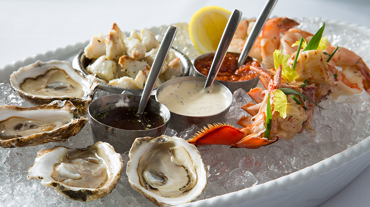 Property LaTableChateau Restaurant Dining SeafoodPlatter LaTable