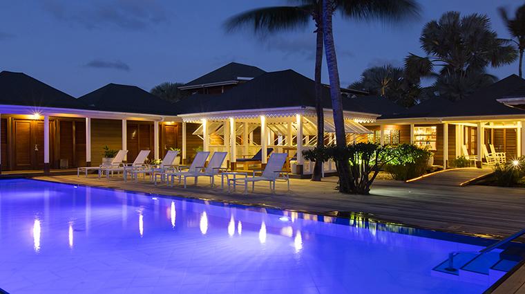 Property LeGuanahani Hotel Spa SwimmingPoolatNight LeGuanahani
