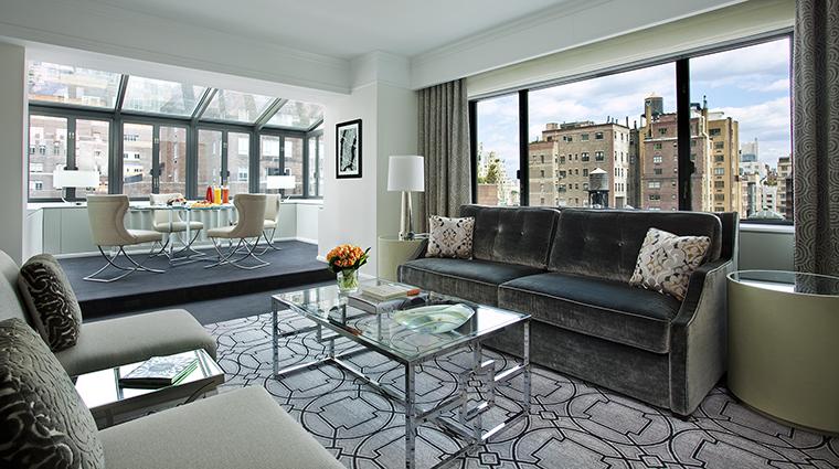 Property LoewsRegencyHotelNewYork Hotel GuestroomSuite TerraceSuiteLivingRoom LoewsHotels&Resorts