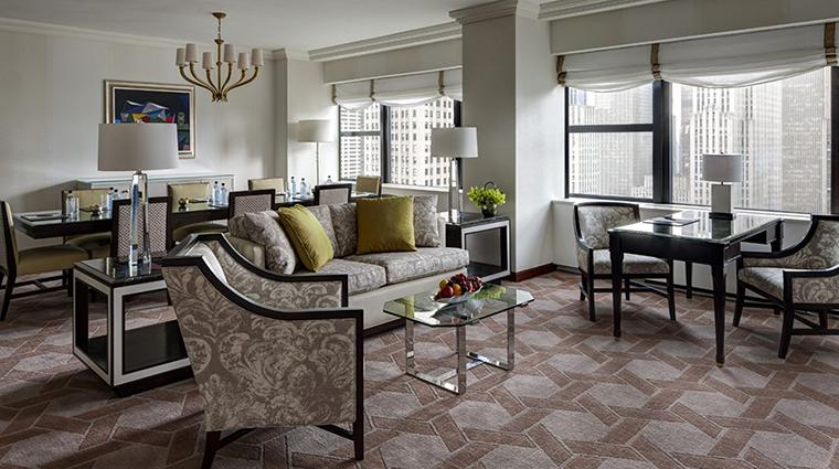 Property LotteNewYorkPalace Hotel GuestroomSuite DeluxeCornerSuiteLivingRoom LotteNewYorkPalace