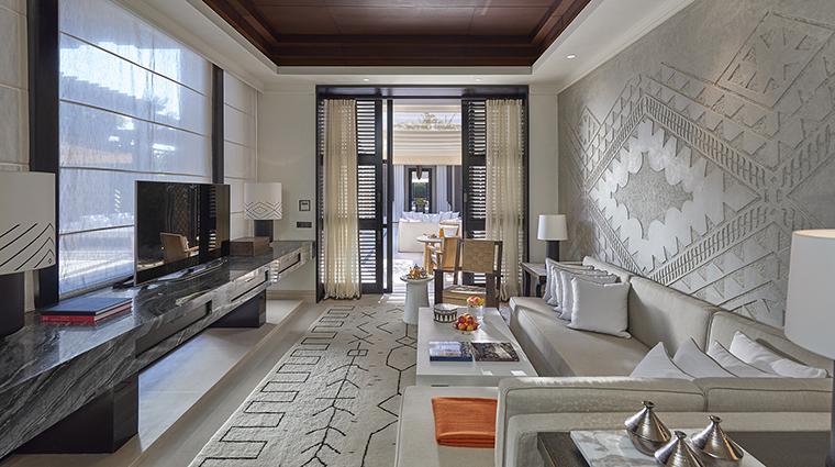 Property MandarinOrientalMarrakech Hotel GuestroomSuite OrientalPoolVillaLivingRoom MandarinOrientalHotelGroup