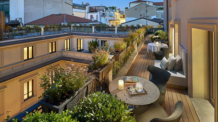 Property MandarinOrientalMilan Hotel GuestroomSuite TerraceSuiteTerrace MandarinOrientalHotelGroup