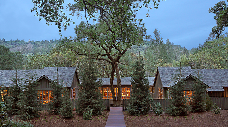 Property MeadowoodSpa Spa ExterioratDusk MeadowoodNapaValley