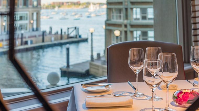 Property Meritage Restaurant Dining PrivateDiningDetail BostonHarborHotel