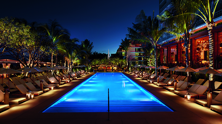 Property MiamiBeachEDITION Hotel PublicSpaces PoolatNight EditionHotels