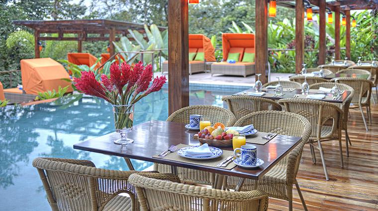 Property NayaraSprings Hotel Dining TerracebythePool SmallLuxuryHotelsoftheWorld
