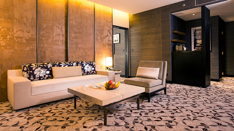 Property NobuHotelManila Hotel GuestroomSuite SuiteSittingArea CityofDreamsManila