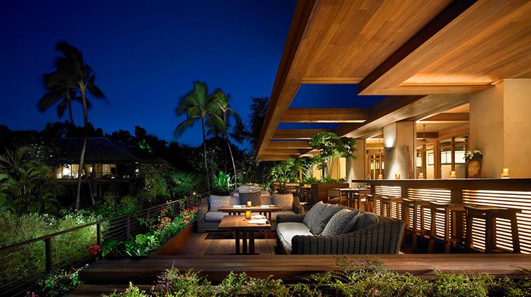 Property NobuLanai Restaurant Dining OutdoorPatioSeatingAreaNight NobuRestaurants