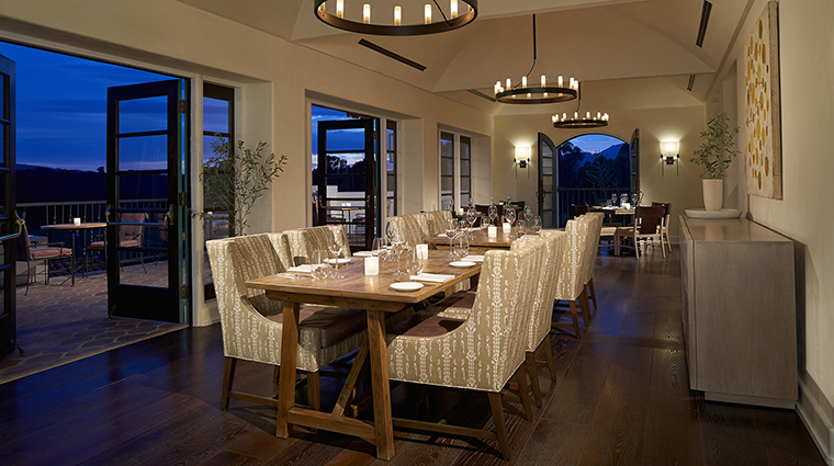 Property Olivella Restaurant Dining DiningRoom OjaiValleyInn&Spa