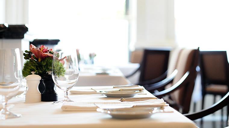 Property OneElevenatTheCaptial Restaurant Dining TableSetting2 TheCapitalHotel