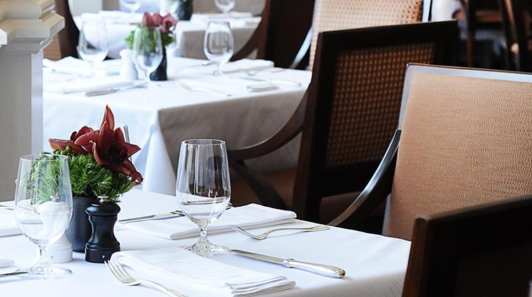 Property OneElevenatTheCaptial Restaurant Dining TableSetting3 TheCapitalHotel
