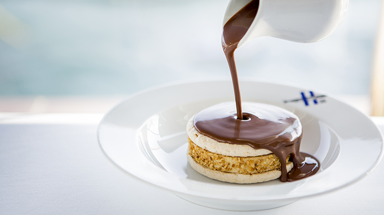 Property RechbyAlainDucasse Restaurant Dining HazelnutIceCreamHotChocolateDessert InterContinentalHotelsGroup