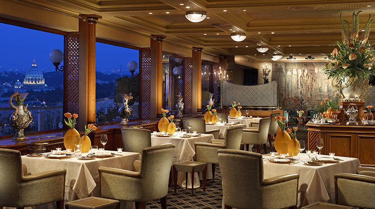 Property RomeCavalieri Hotel Dining LaPergola HiltonWorldwide