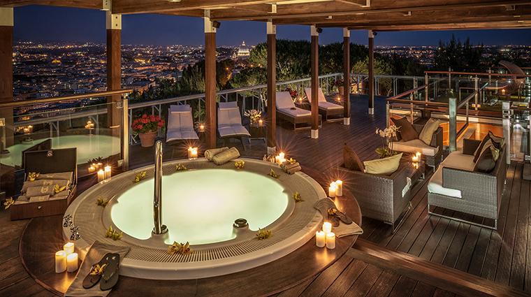 Property RomeCavalieri Hotel GuestroomSuite PlanetariumSuiteTerrace HiltonWorldwide
