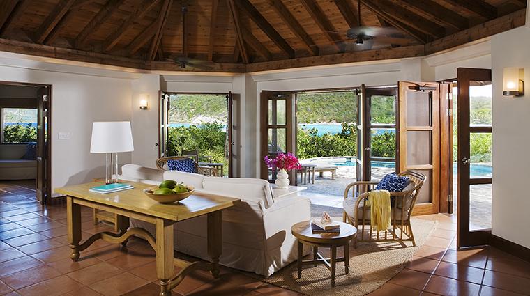 Property RosewoodLittleDixBay Hotel GuestroomSuite BeachHouseLivingRoom RosewoodHotelsandResortsLLC