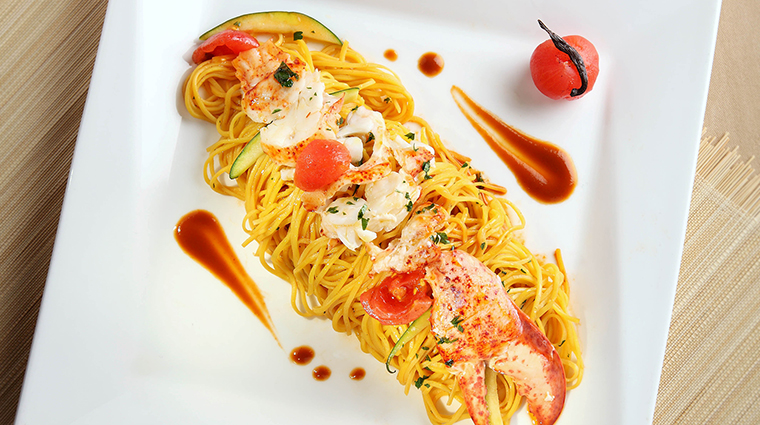 Property SabatiniRistorante Restaurant Dining HomemadeTaglioliniwithLobster&Zucchini TheRoyalGarden