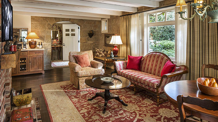 Property SanYsidroRanch Hotel GuestroomSuite OliveCottageLivingRoom SanYsidroRanch