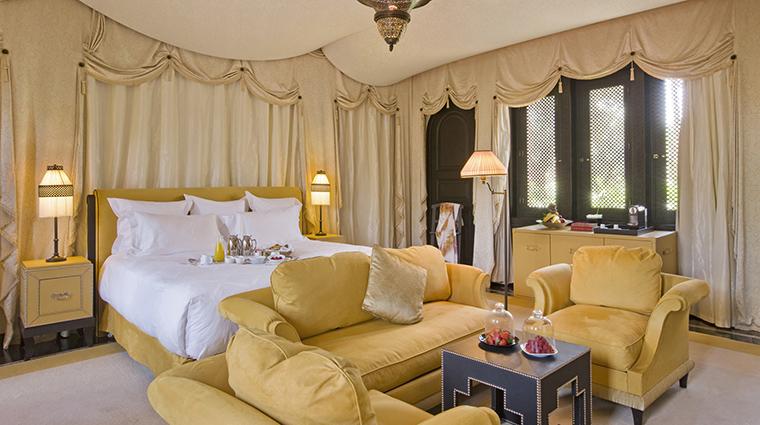 Property SelmanMarrakech Hotel GuestroomSuite OneBedroomRiadBedroom SelmanMarrakech