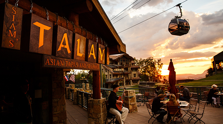 Property SiamsTalayGrille Restaurant Dining Entrance InnatLostCreekTelluride