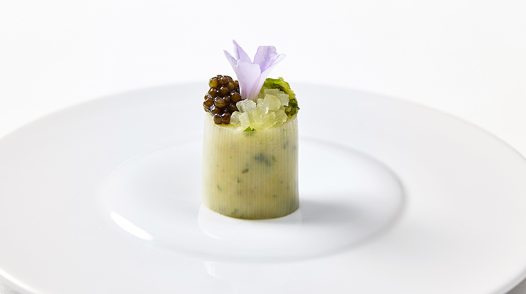Property Sixteen Restaurant Dining PotatowithBraisedLeek&Caviar TrumpInternationalHotel&TowerChicago